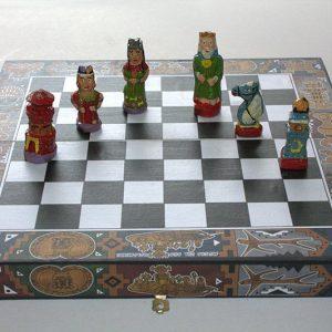 Ajedrez ceramica vidriada indios vs españoles c3004 arte y artesanias colombianas 001_800_Arte_y_Artesanias_Bogota