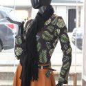 Bufanda pashmina dama  negra
