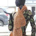 Bufanda tejido fino tonos tierra