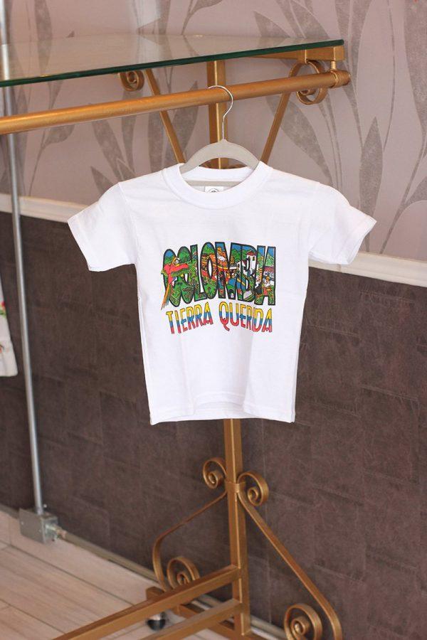 Camiseta blanca niño T10 c21002 arte y artesanias colombianas 001_800_Arte_y_Artesanias_Bogota