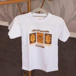 Camiseta blanca niño T10 c21002 arte y artesanias colombianas 003_800_Arte_y_Artesanias_Bogota