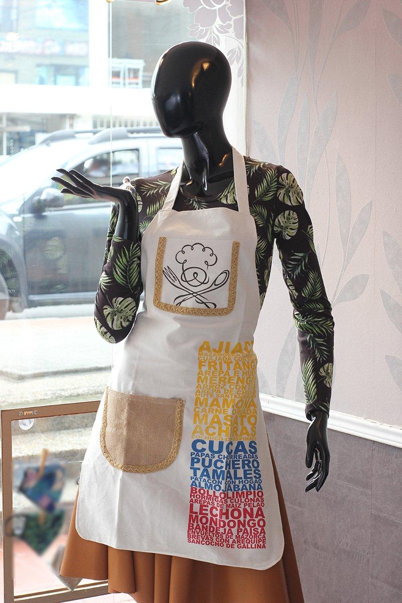 Delantal tipico blanco c24037 arte y artesanias colombianas 001 _800_Arte_y_Artesanias_Bogota