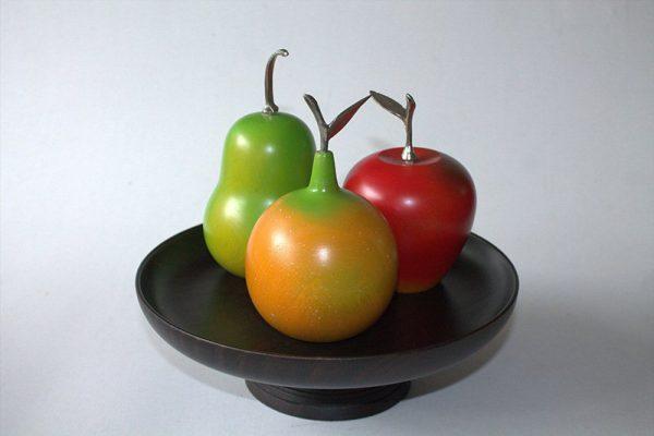 Frutero madera Guayacan y 3 frutas arte y artesanias colombianas 001_800_Arte_y_Artesanias_Bogota