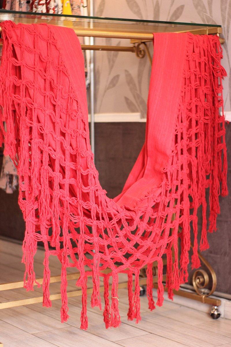 Hamaca con fleco roja industrial Barranquilla c8005 arte y artesanias colombianas 001 _800_Arte_y_Artesanias_Bogota