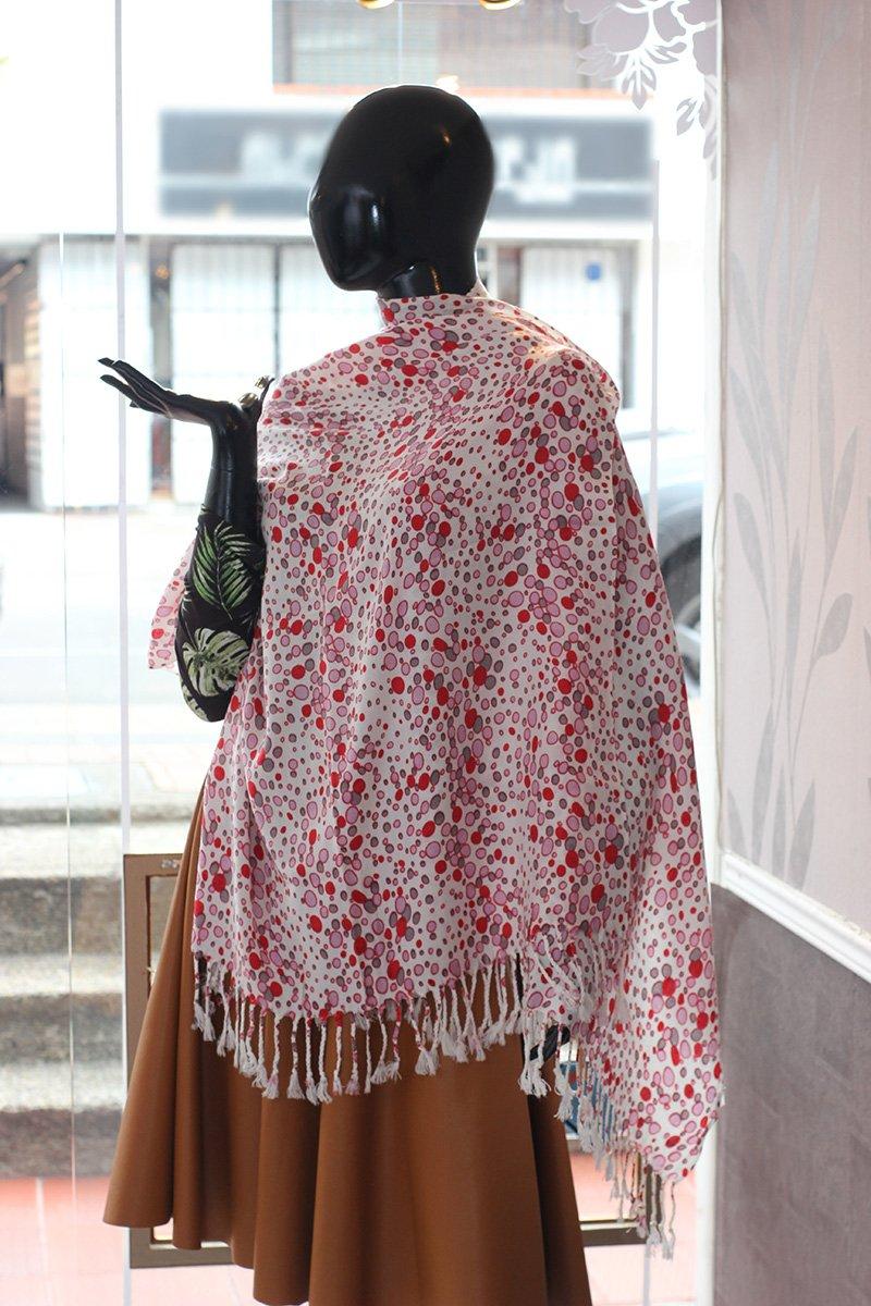 Pashmina en algodón diseño circulos c8019 arte y artesanias colombianas 001_800_Arte_y_Artesanias_Bogota