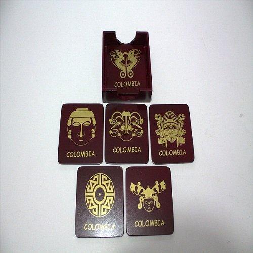 Portavaso precolombino caja de madera c44001 arte y artesanias colombianas 001